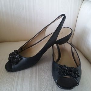Black Sling Pumps